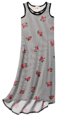 Jenna & Jessie Sleeveless Cage Front Maxi Dress (Big Girls)