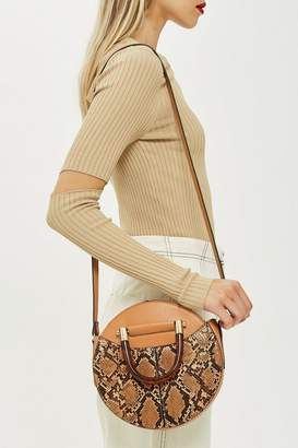 Topshop Tortoiseshell Handle Bag