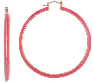 Trina Turk Knife Edge Enamel 57mm Hoop Earrings