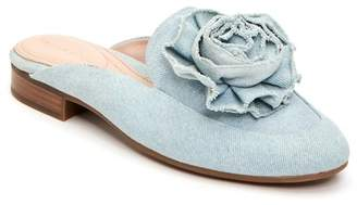 Taryn Rose Blanche Denim Flower Mule