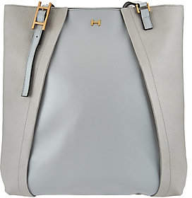 Halston H by Saffiano & Smooth Leather ShoulderTote Bag
