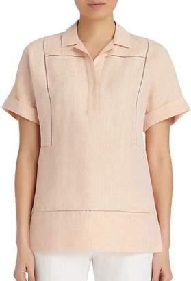 Lafayette 148 New York Women's Amorie Linen Top
