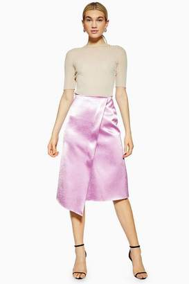 Topshop **MeTallic Wrap Skirt by Boutique