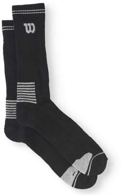Wilson Men's Extended Size Performance Crew Socks 6-Pack
