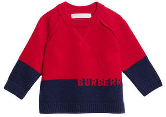 Burberry Alister Colorblock Cashmere Sweater, Size 12M-3