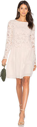See By Chloe Long Sleeve Lace Mini Dress in Blush $595 thestylecure.com
