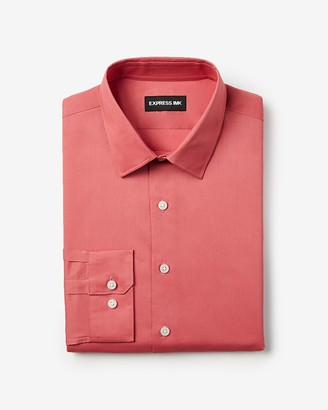Express Slim Solid Stretch Shirt