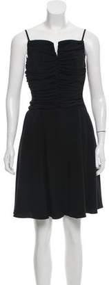 Armani Collezioni Ruched Mini Dress