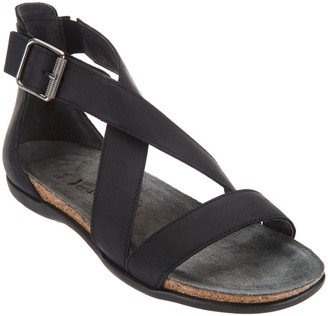 Naot Footwear Leather Cross Strap Sandals - Rianna