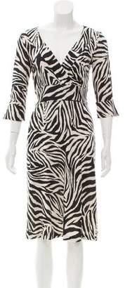 Diane von Furstenberg Silk Surplice Neck Dress
