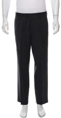 Dolce & Gabbana Pinstripe Wool Dress Pants