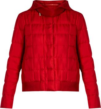 Nastya hooded silk-twill jacket