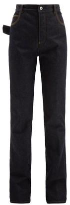 Bottega Veneta High Rise Flared Jeans - Womens - Dark Blue