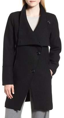 Halogen Boiled Wool-Blend Asymmetrical Coat (Regular & Petite)