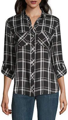 A.N.A Modern Fit Long Sleeve Button-Front Shirt