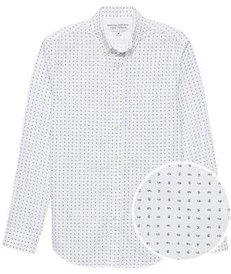 Banana Republic Grant Slim-Fit Luxe Poplin Paisley Shirt