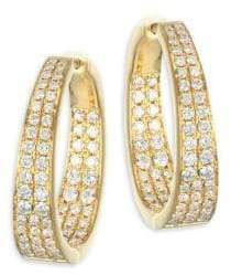 Anita Ko Meryl 18K Yellow Gold& Diamond Hoop Earrings