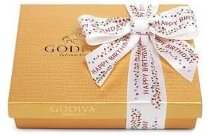 Godiva 19-Piece Chocolate Gold Gift Box With Happy Birthday Ribbon