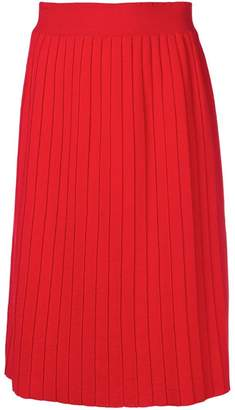 Parker Chinti & high-waist pleated skirt