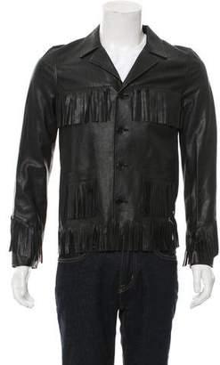 Saint Laurent Curtis Fringed Leather Jacket w/ Tags