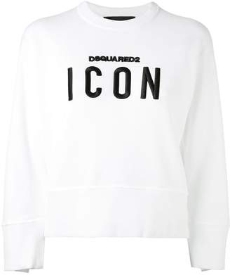 DSQUARED2 'Icon' embroidered sweatshirt