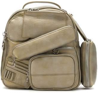 À La Garçonne multi pocket backpack