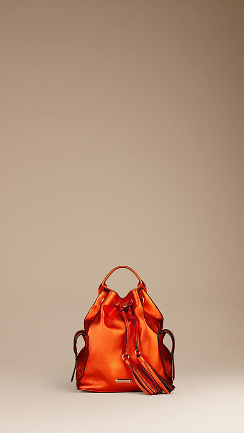 Burberry Metallic Leather Tassel Backpack
