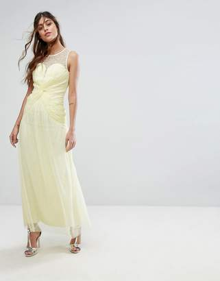 Little Mistress Sweetheart Maxi Dress With Embellished Neck