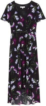 Ethereal London Luciana Oriental Print Knee Dress