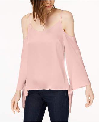 Kensie Tie-Sleeve Cold-Shoulder Blouse