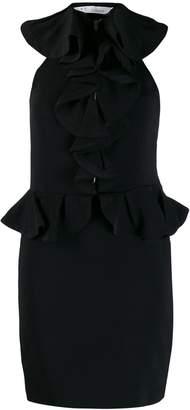 IRO Jungle ruffle trim short dress