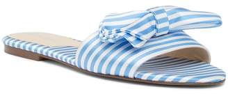 Charles David Slipper Striped Canvas Slide Sandal
