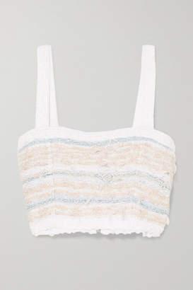 bcd3bffab9edf2 Balmain Cropped Tweed Top - White