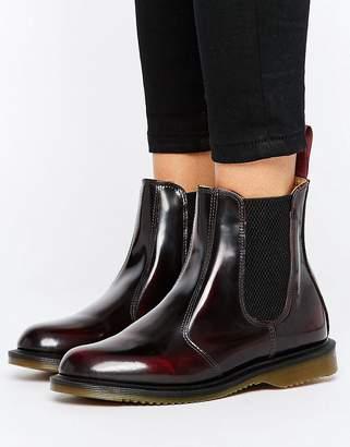 Dr. Martens Kensington Flora Burgundy Chelsea Boots