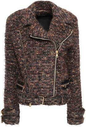Balmain Metallic Tweed Biker Jacket