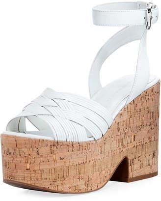 Sigerson Morrison Becca Cork Wedge Platform Sandal