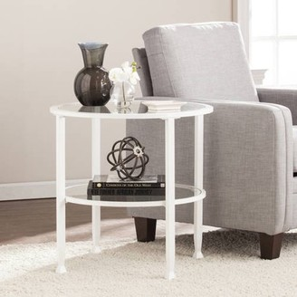 Southern Enterprises Jumpluff Metal/Glass Round End Table