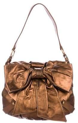 Saint Laurent Leather Bow-Accented Bag