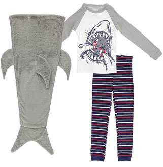 Freestyle Revolution Long Sleeve Pajamas & Sleeping Bag, 3-piece Sleepover Gift Set (Toddler Boys)