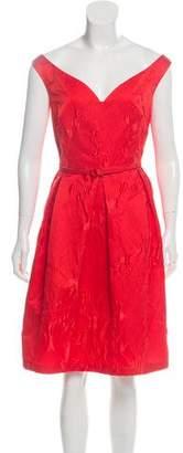 Oscar de la Renta Matelassé Knee-Length Dress w/ Tags