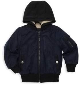 Urban Republic Little Boy's Faux Fur Hooded Bomber Jacket