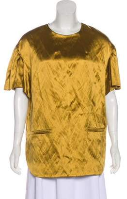 Dries Van Noten Silk Crew Neck Tunic
