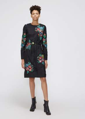 MS MIN Long Sleeve Quilted Dress