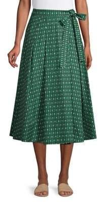 Max Mara Printed A-Line Midi Skirt