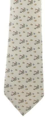 Hermes Eskimo Print Silk Tie