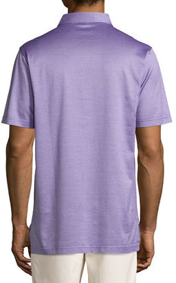 Peter Millar Fran Jacquard Cotton Lisle Polo Shirt $98 thestylecure.com