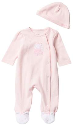 Little Me Ballet Bear Footie & Hat Set (Baby Girls)