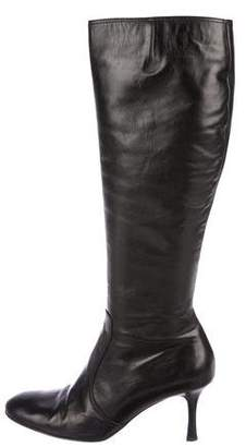 Isaac Mizrahi Isaac by Leather Knee-High Boots