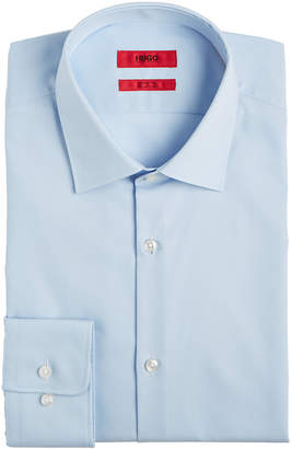 HUGO BOSS HUGO Men's Slim-Fit Light Blue Solid Dress Shirt