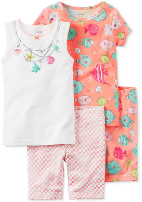 Carter's 4-Pc. Fish Cotton Pajama Set, Baby Girls (0-24 months) $34 thestylecure.com